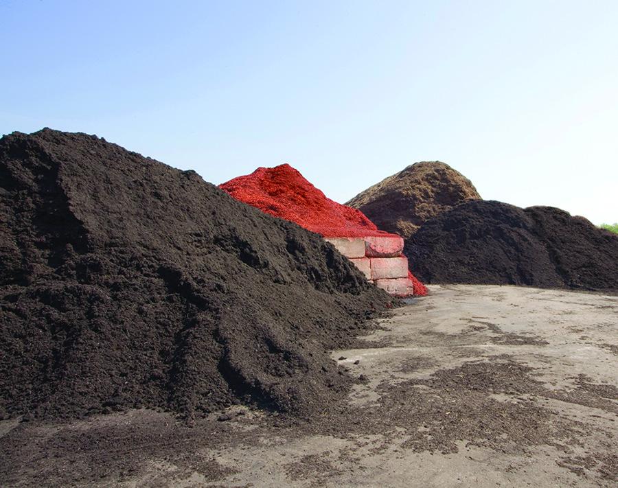 mulch-piles